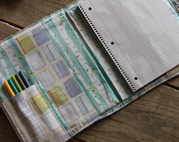 Custom Teacher Padfolio Notebook Gradebook Paper Organizer Grading