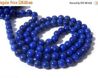 55% OFF SALE 1/2 strand 8 Inches - Natural Undyed AAA Lapis Lazuli Smooth Polished Round Beads Size 3.5 - 4.5mm approx