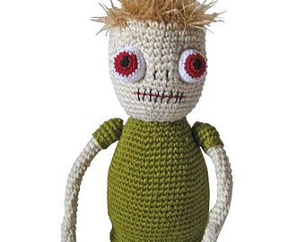 amigurumi PDF crochet pattern Zombie Johann by Conni Hartig, tutorial fantasy, monster, ebook halloween deco scarry