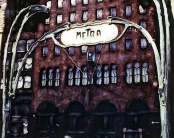 Van Buren Metra Shop in Chicago - Polaroid SX-70 Manipulation - 8x8 Fine Art Photograph, Wall Decor