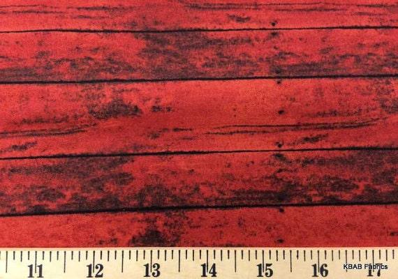 Barn Wood Fabric By Yard Fat Quarter Red Farm Rustic Home