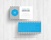 250 or 500 Custom Printed Independent Consultant Chevron Business Cards with Mini Facial Instructions on back