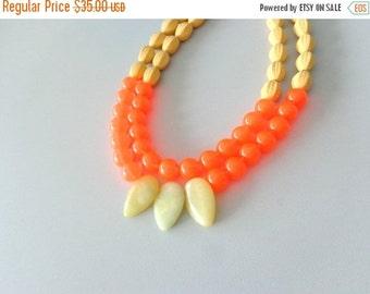 Neon orange yellow statement jewelry