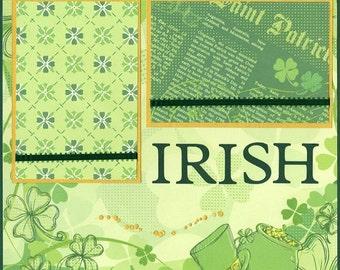 Saint Patrick Premade Pages Layout 12 x 12