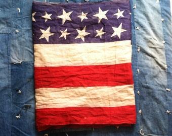 1940's WWII Era American Flag Bunting • 23 Feet +