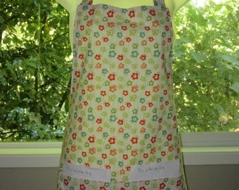 aprons for women_womens aprons_full aprons_floating flowers