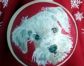 custom hand painted pet ornament, bisque ornament, furbaby ornament, Christmas ornament, dog ornament, cat ornament,  porcelain pet ornament