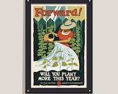 Forward! - 12x18 poster