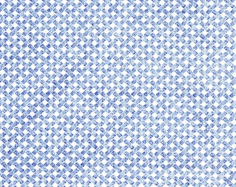 Timeless Treasures Blue and White Check Lena-C2348 Cotton Quilting Fabric