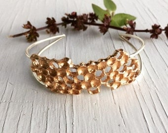 Real Honeycomb Bracelet, Honey Comb, Beehive Cuff