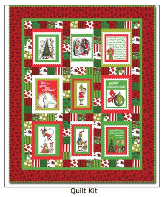Merry Grinchmas Cotton Quilt Kit How The Grinch Stole