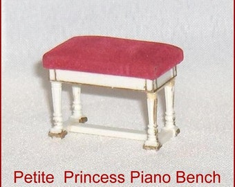 ON SALE   Petite Princess Piano Bench  Vintage Ideal   Doll House Furniture