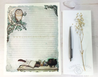 Wizards & Witches Stationery Paper - Stationery Paper Set with Envelopes - Stationery Set - Writing Paper - Writing Paper Stationery