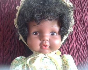 SALE African American Black Softina Drink Wet Doll Eegee