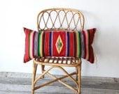 Mexican Saltillo Weaving Upholstered Bolster Pillow