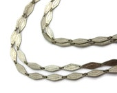 Art Deco Link Necklace - Double Strand, Costume Jewelry, Silver Tone