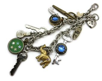 Charm Bracelet - Vintage Costume Jewelry