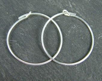 Sterling Silver Beading Hoop 20mm ~ PAIR (CG5964)