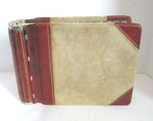 Vintage Ledger Book Leather Bound With Ledger Sheets Office Supplies