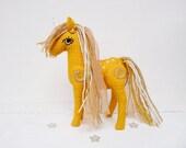 SALE - Yellow Unicorn Plush Articulated Fairytale Nursery Decor