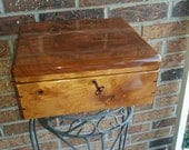 Handcrafted Cherry Wood Lock Box
