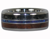 Wood Stone and Carbon Fiber Ring
