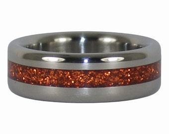 Orange Titanium Ring Perfect for Halloween