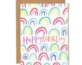Happy Birthday Rainbow Illustrated Card//1canoe2