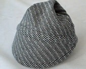 Blue Line Baby Bike Cap from Upcycled Soft Cotton Knit for Bike Baby Gift