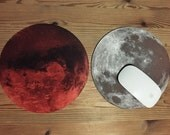 Mars and Moon Mousepads