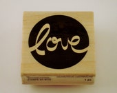 Rubber Stamp - love