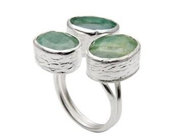 15% Discount light green Emerald Ring