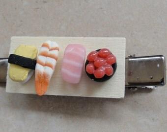 Sushi Board Hair Clip OOAK
