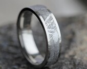 Mens Meteorite Wedding Band, Mens Wedding Ring, Womans Wedding Band, Mens Wedding Band, Meteorite Ring, His and Hers Wedding Band