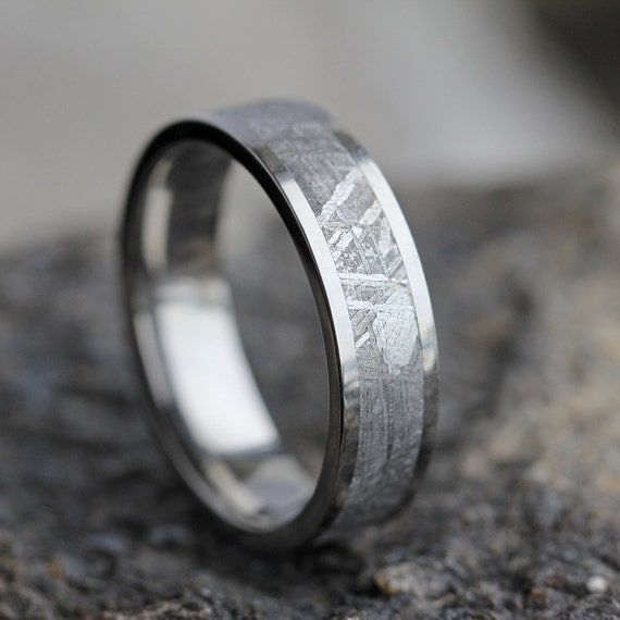 Gibeon Meteorite Wedding Band Wedding Anniversary Ring