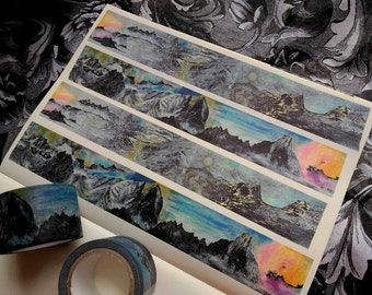 Swedish and Norwegian Landscape : Japanese Washi Masking Tape One Roll (30 mm) = The Collection of Beautiful Mountains