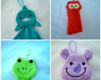 BABIES BATH ANIMALS  in Microfiber towels