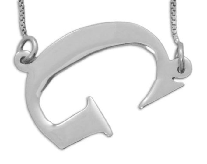 Personalized Initial Necklace - Initial Pendant - Sterling Silver - Choose an initial or number from 5 styles
