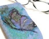 Felted Eyeglass Case. Moth