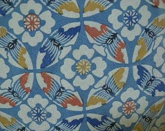 Vintage kimono S239, chirimen silk
