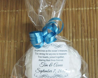 Beach Wedding Favors - Seashell Soap Wedding Favors Coconut Scented - White