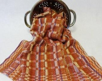 Handwoven Cotton/Linen Towel for Kitchen & Bath - Mauve Towel,  Handtowel, Kitchen Towel, Handwoven Towel, Tea Towel, Breadcloth 16-20 D Mve