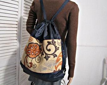 Drawstring Bag School Sport Backpack Sack Bag Recycled