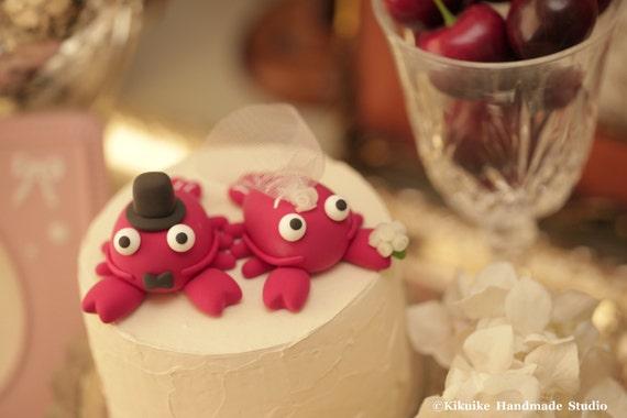 lobster Wedding Cake Topper---k623