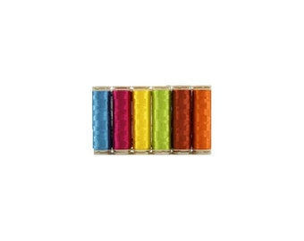 WonderFil InvisaFil Thread Set B007 - Six Spools of 400m 100wt Cottonized Polyester
