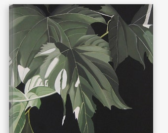 Leaves Canvas Print - Green Mulberry Large Decorative Modern Botanical Wall Art Print Reproduction