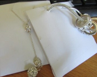 Two  rhinestone necklaces
