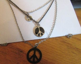 three tier peace necklace