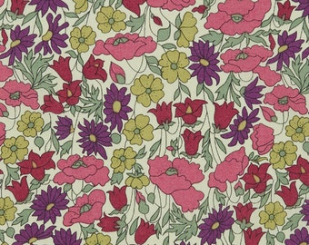 Liberty of London Tana Lawn Fabric 6x26 Poppies and Daisies