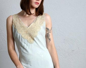 ON SALE Antique Blue Night Gown